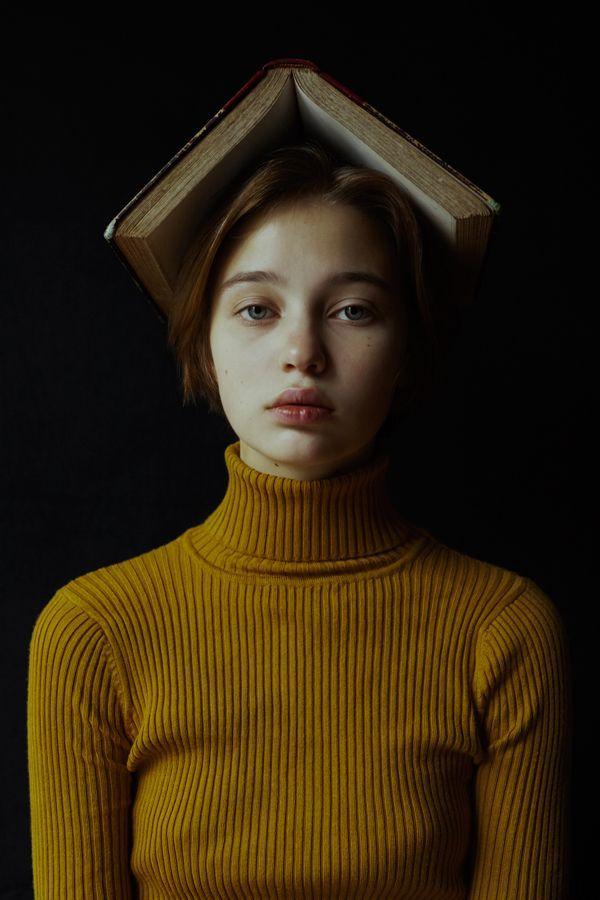 средних автопортрет фотосъемка идеи состоит