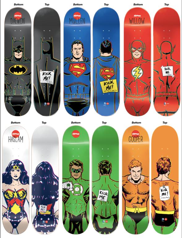 Almost X DC Comics Skateboard Pinterest