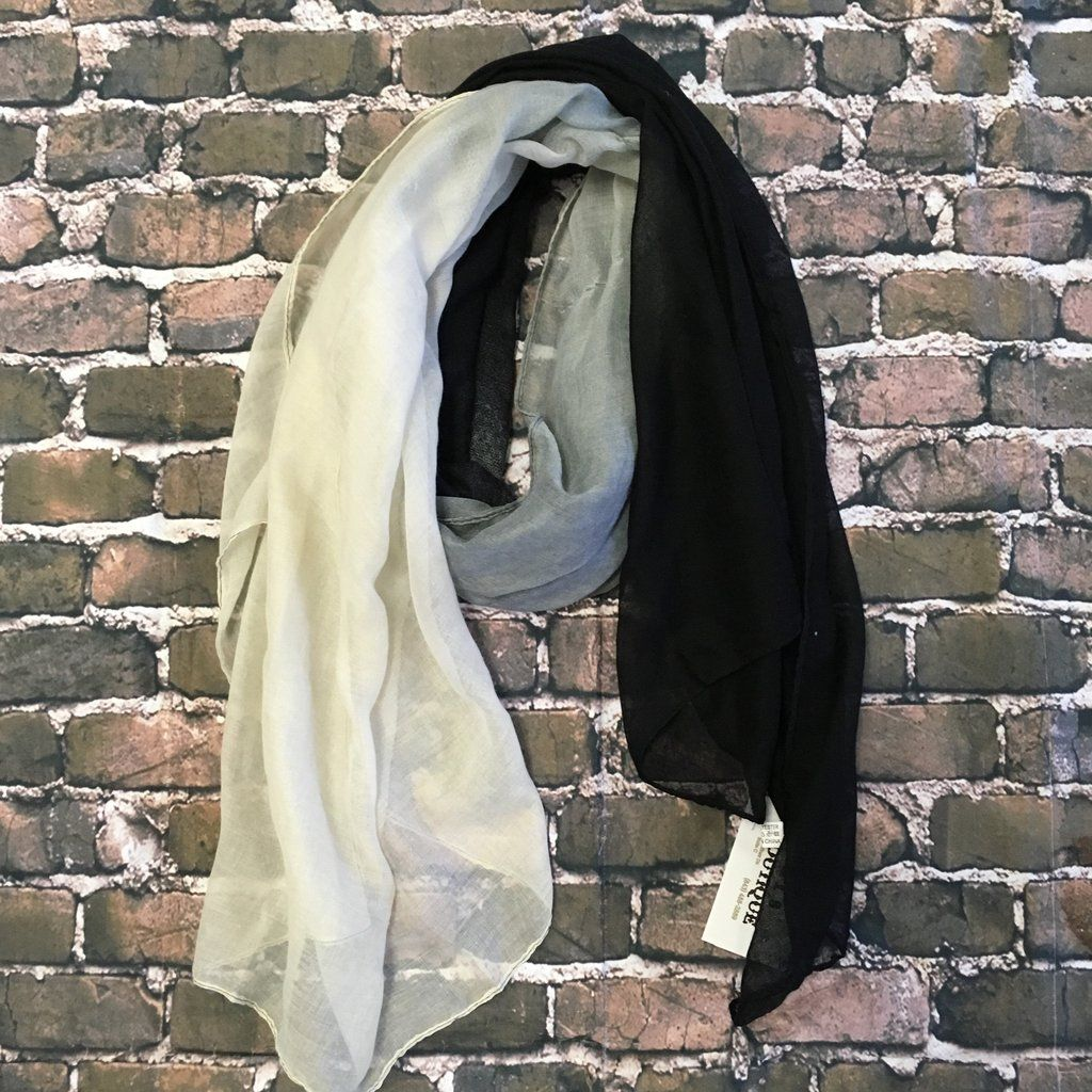 Black ombré scarf