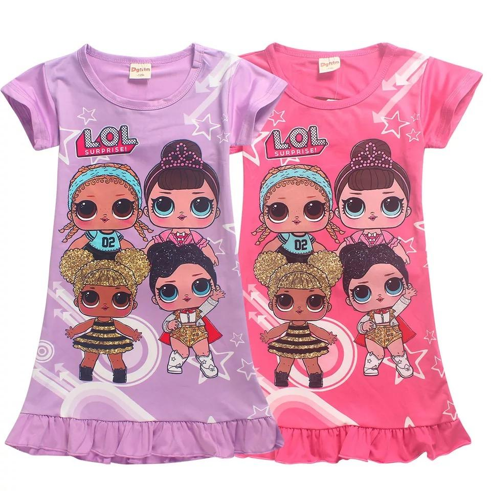 2019 LOL Little Girls' Short Sleeved Hot Summer Cartoon
