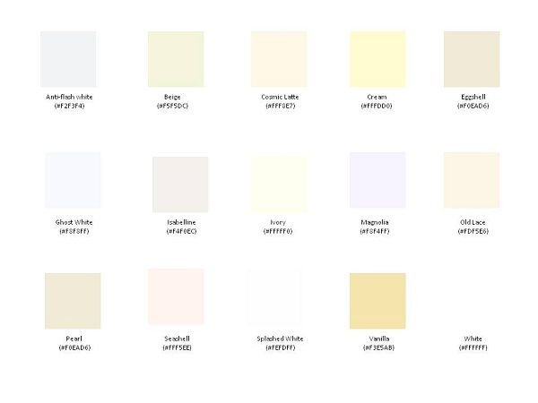 Eco Friendly Shades Of White