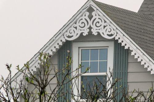 Love the center gable part ornamental ideas farmhouse - Exterior house gable decorations ...