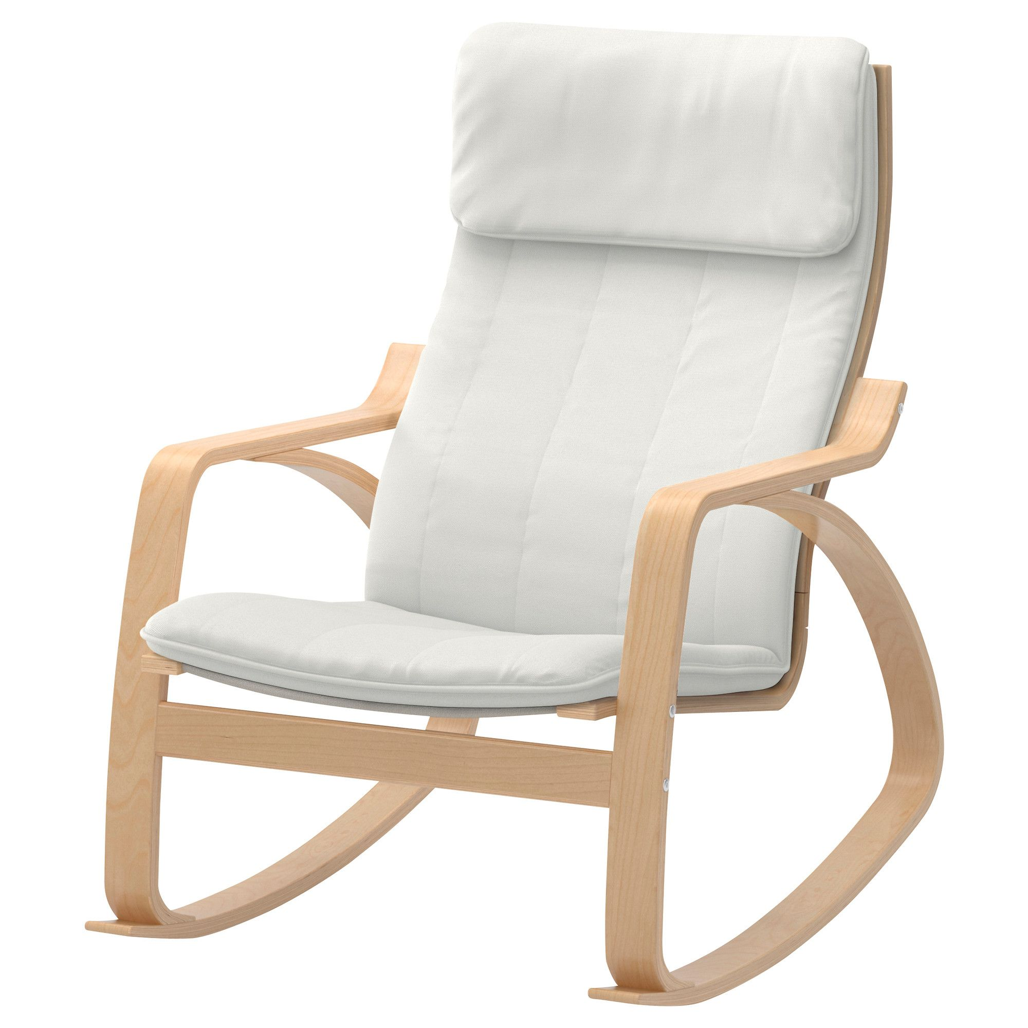 Po Ng Rocking Chair Gran N White Medium Brown Ikea For The  # Muebles Dutailier