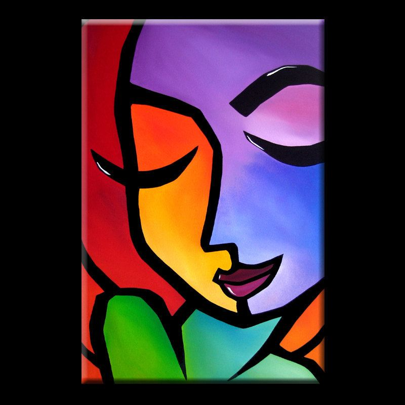 Color Blind Original Abstract Painting Modern Pop Art