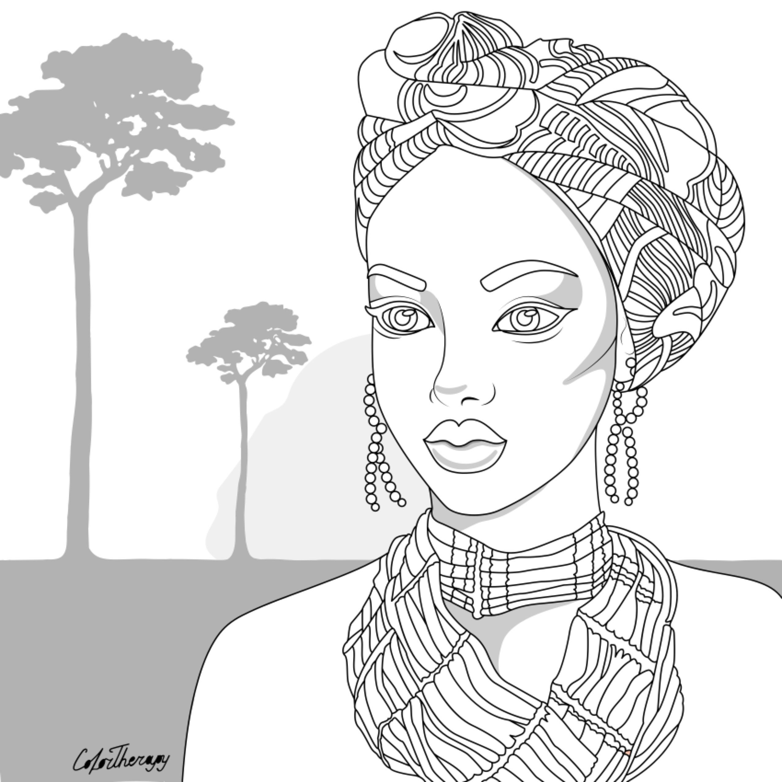 African People Coloring Pages