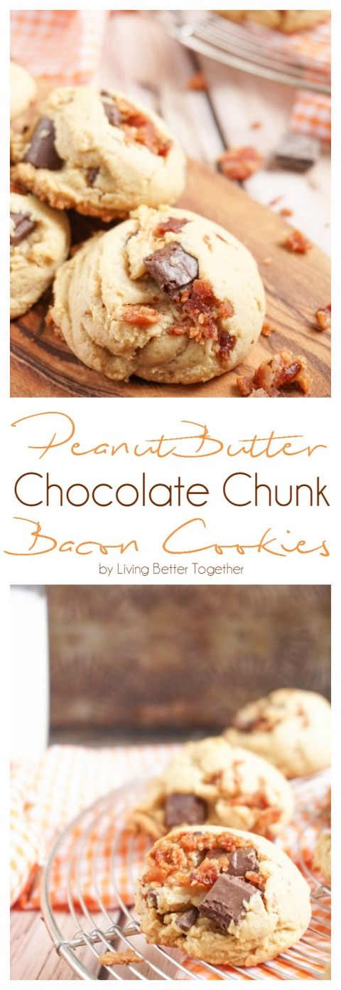 Yes, please.  These Peanut Butter Bacon Chocolate Chunk Pudding Cookies are a chewy blend of sweet and salty. No chill time means they're ready in 30 minutes!