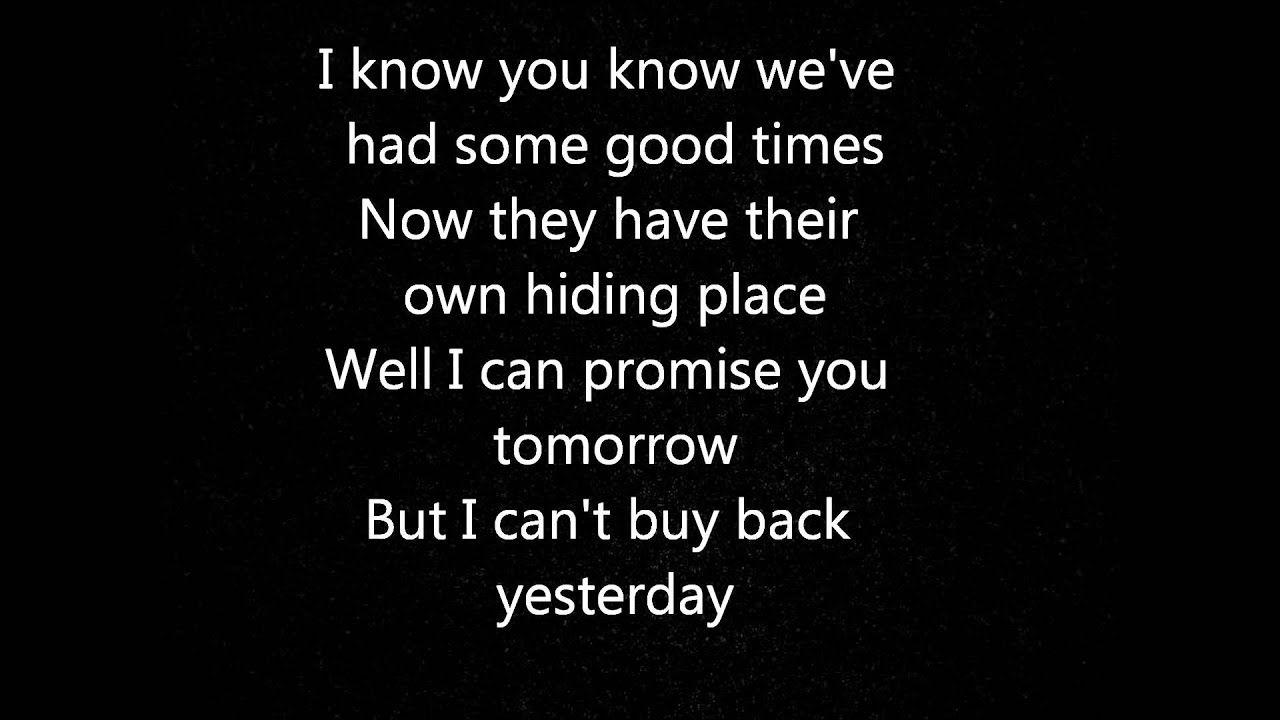 Bon Jovi I Ll Be There For You Lyrics Youtube Yours Lyrics