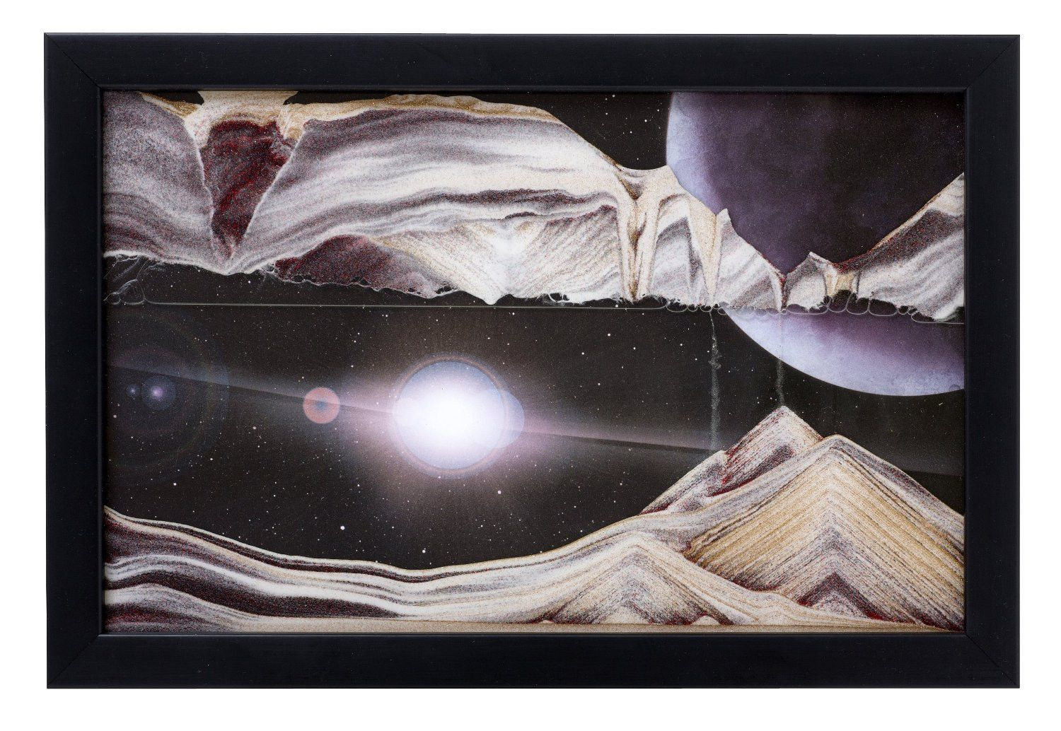 moving sand art picture outer space in frame in movie series - Moving Picture Frame