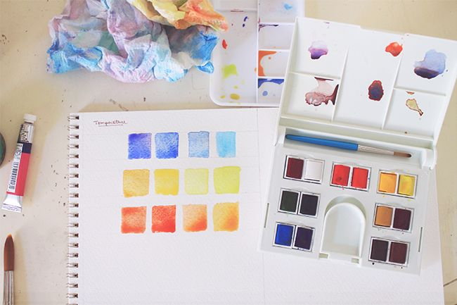 Watercolor Mixing With Color Temperature In Mind Youtube
