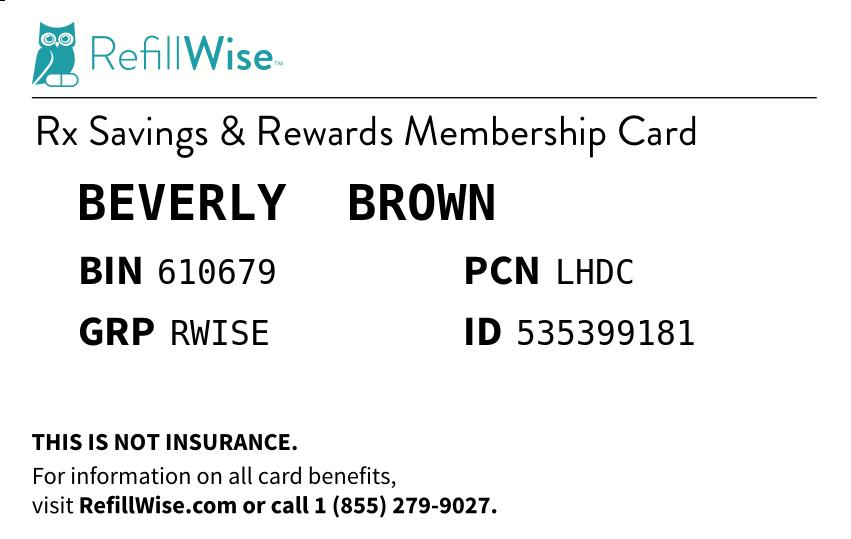Refillwise Membership Card Cards Memberships