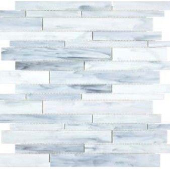 Anatolia Bliss Baroque Glass Mosaic Random Strip Carrara 35 081 Mosaic Glass Carrara Stained Glass Mosaic