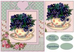 Shabby Tea Cup Topper