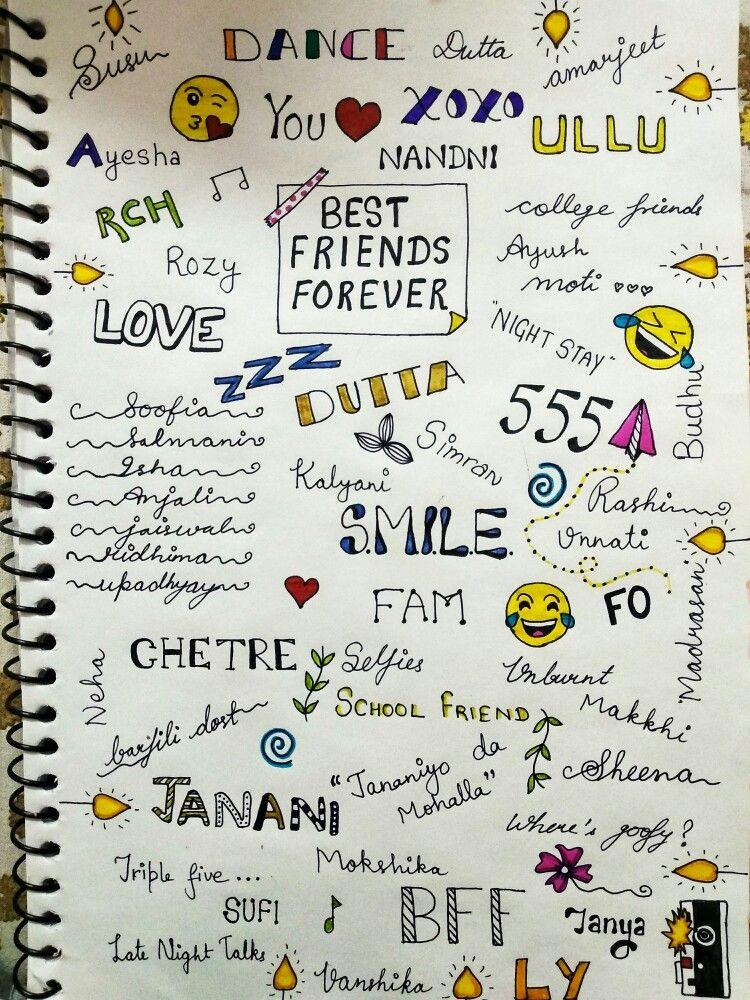 Best Friends Forever Doodle Patterns Doodles Friends Forever