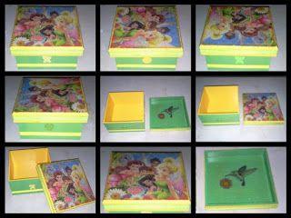 Caja decorada con servilleta decoupage