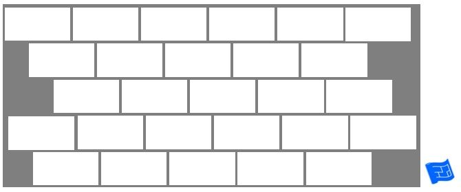 Subway tile brick tile pattern - staggered offset. For more on tile patterns  and home