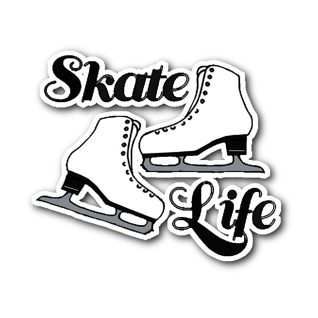 Skate life sticker vinyl cling purposely designed
