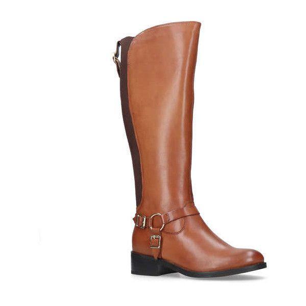 Carvela Petra - tan low heel knee boots Explore Cheap Price WMiGz1sD