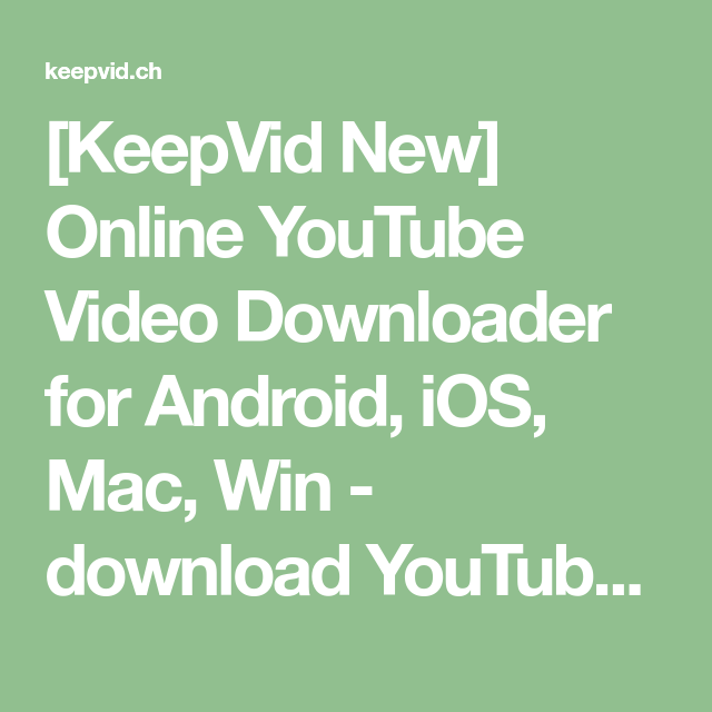 Keepvid youtube downloader mp3
