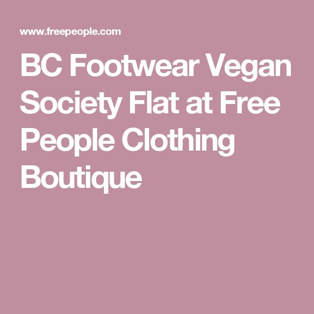 BC Footwear Vegan Society Flat at Free People Clothing Boutique