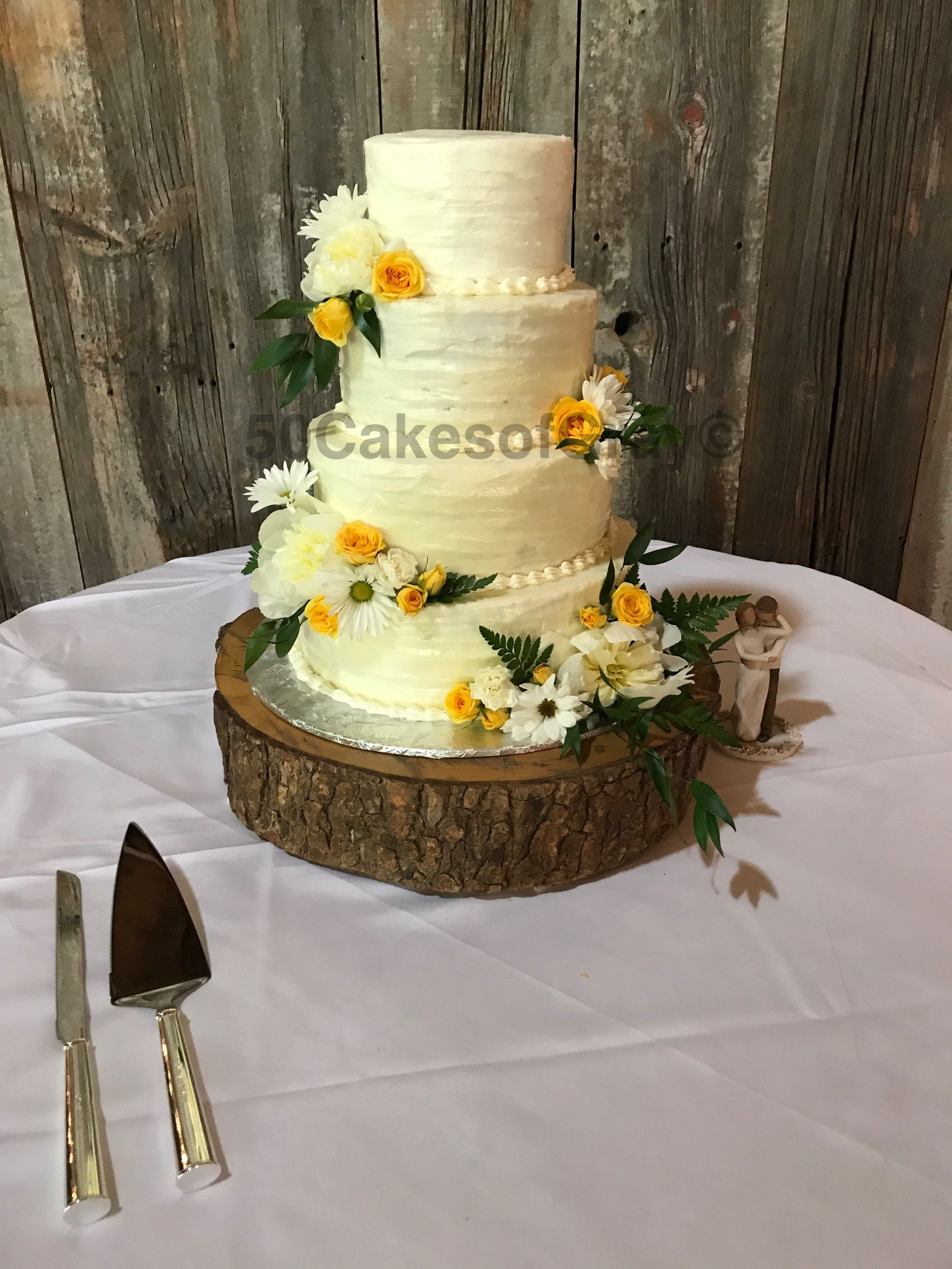 Rustic Wedding Cake I Made 50 Cakes Of Gray Mallory Memphis Tn