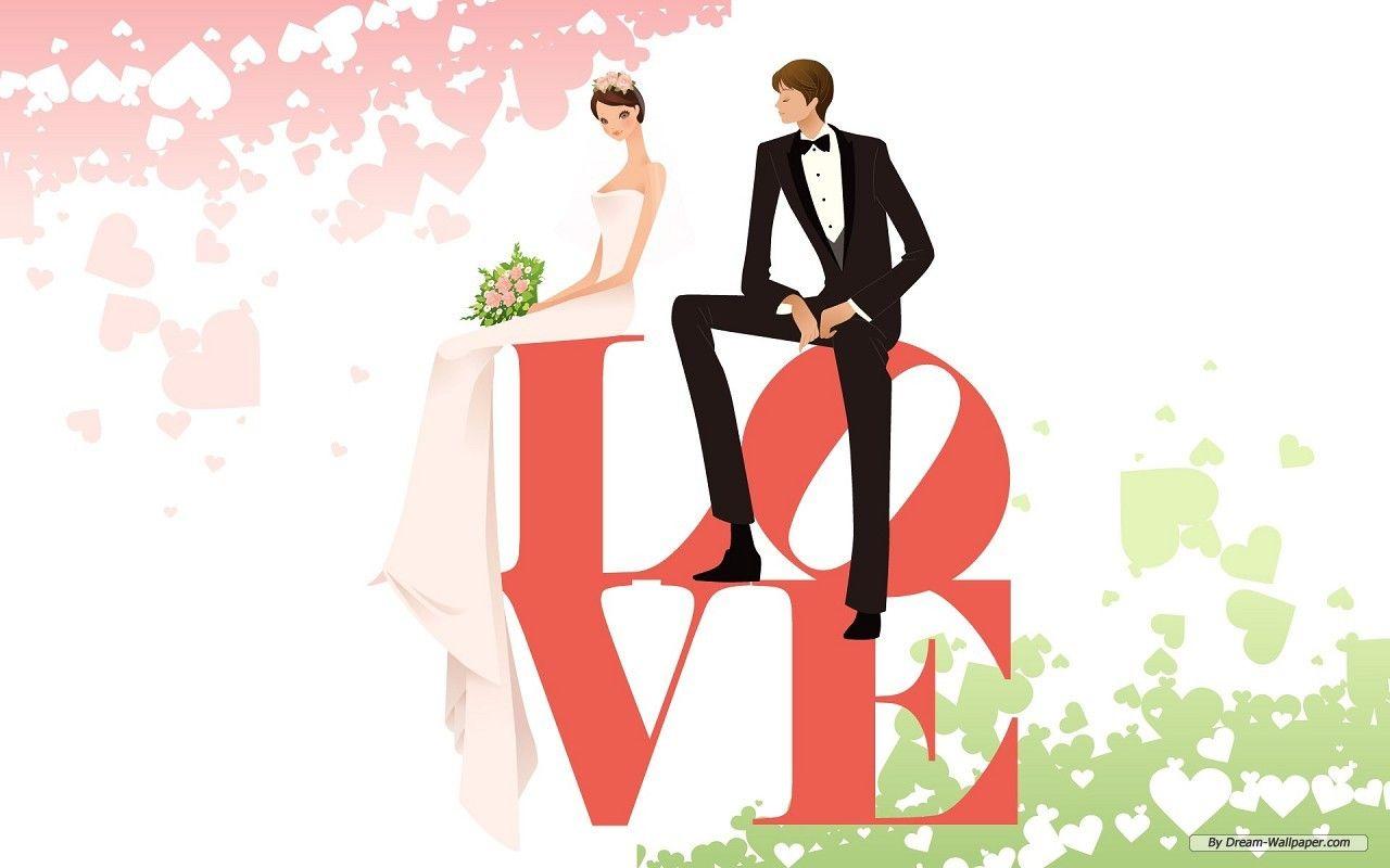 Animated Wedding pictures | Animated Wedding - Weddings Wallpaper ...