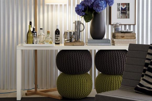 Living Room Poufs Knitted Pouf Living Room  Decor  Pinterest  Knitted Pouf Poufs