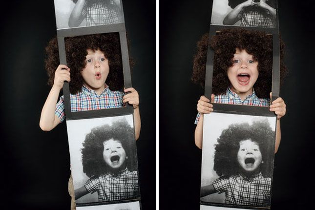 Yes! A photo booth strip as a Halloween costume So creative - super easy halloween costume ideas