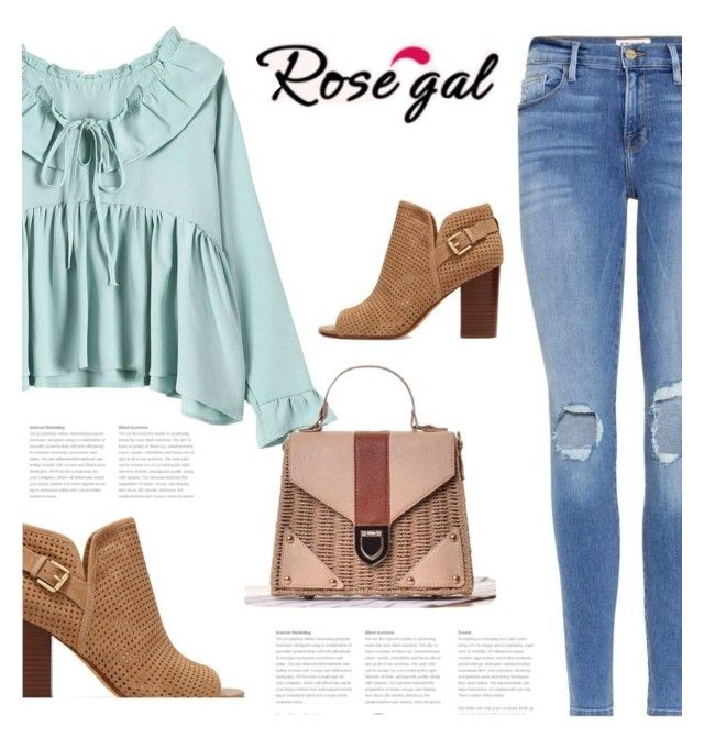 """Rosegal 33"" by bliznec ❤ liked on Polyvore featuring Sam Edelman and Frame"