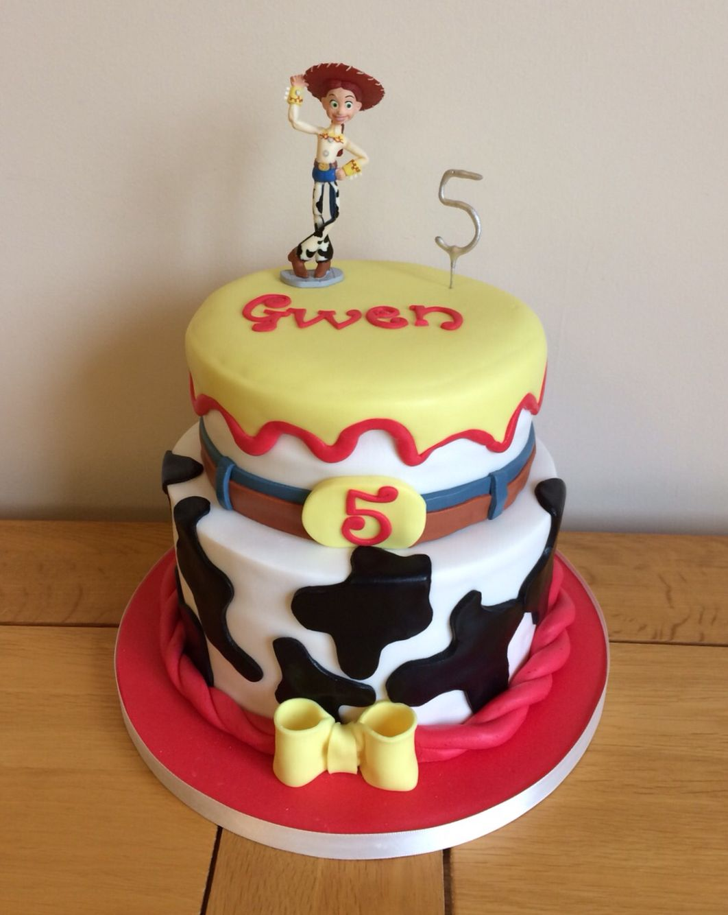 Two Tier Toy Story Birthday Cake For A Five Year Old Girl Toy