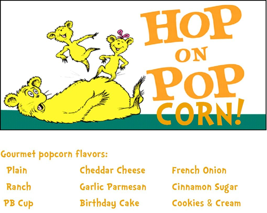 Classroom Design For Daycare ~ Hop on popcorn menu for bar social committee in