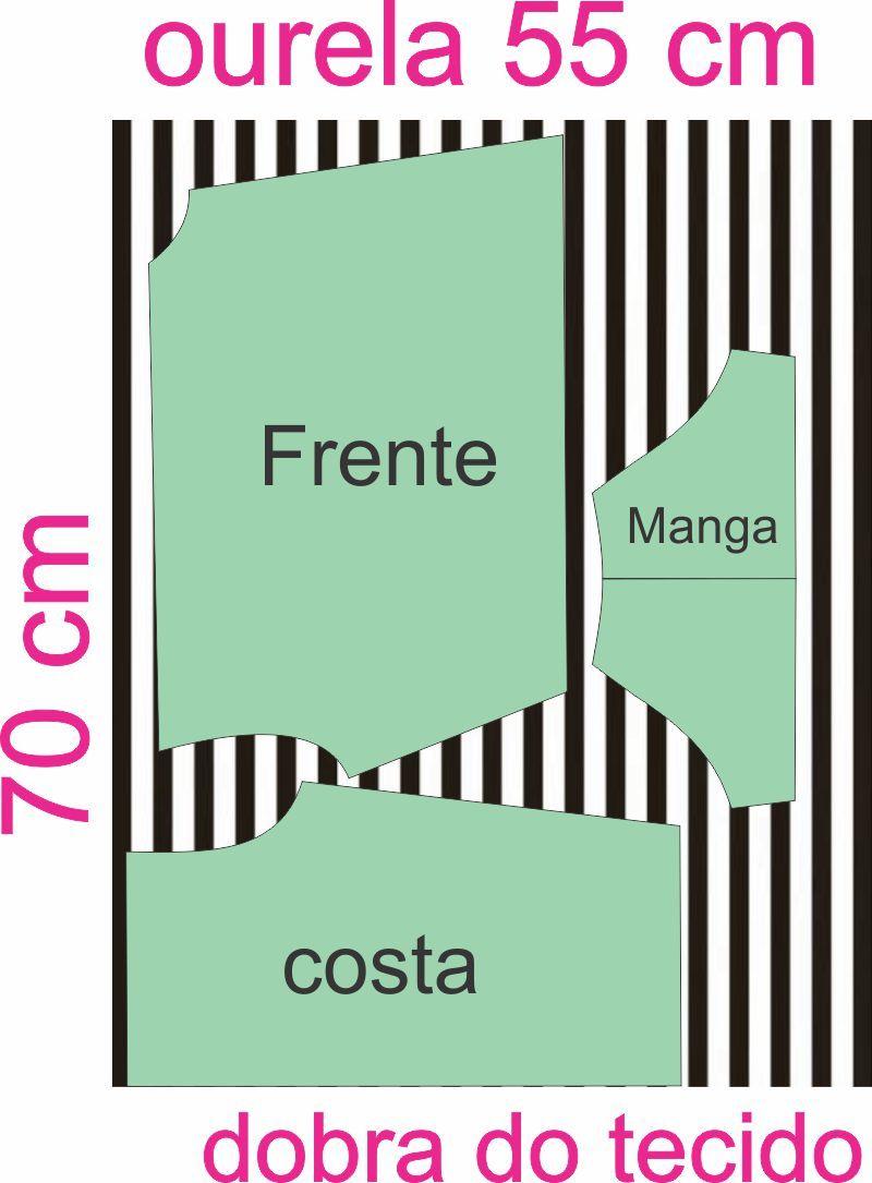 8c3a7c1c4 Molde Blusa Cropped Transpassado Tam M - Claudineia Antunes ...