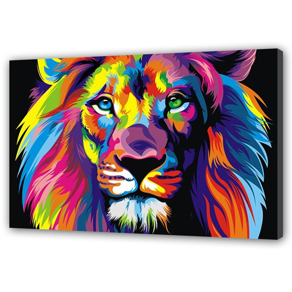 Pics For Colorful Tiger Painting Tiger Art Pinterest