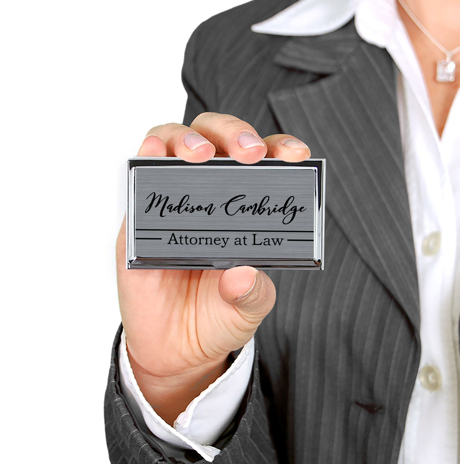 Custom Business Card Case Personalized Business Card Holder ...
