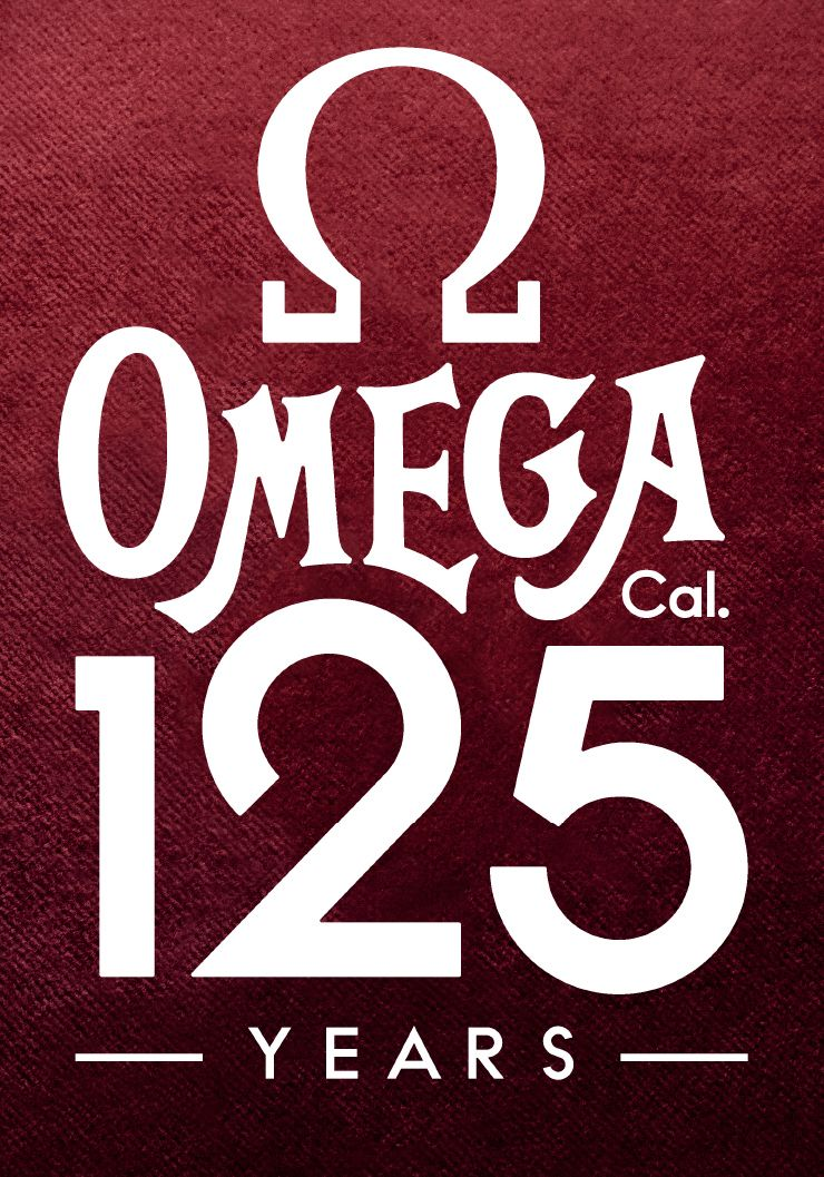 The logo for the 125th anniversary of the OMEGA name. See ...