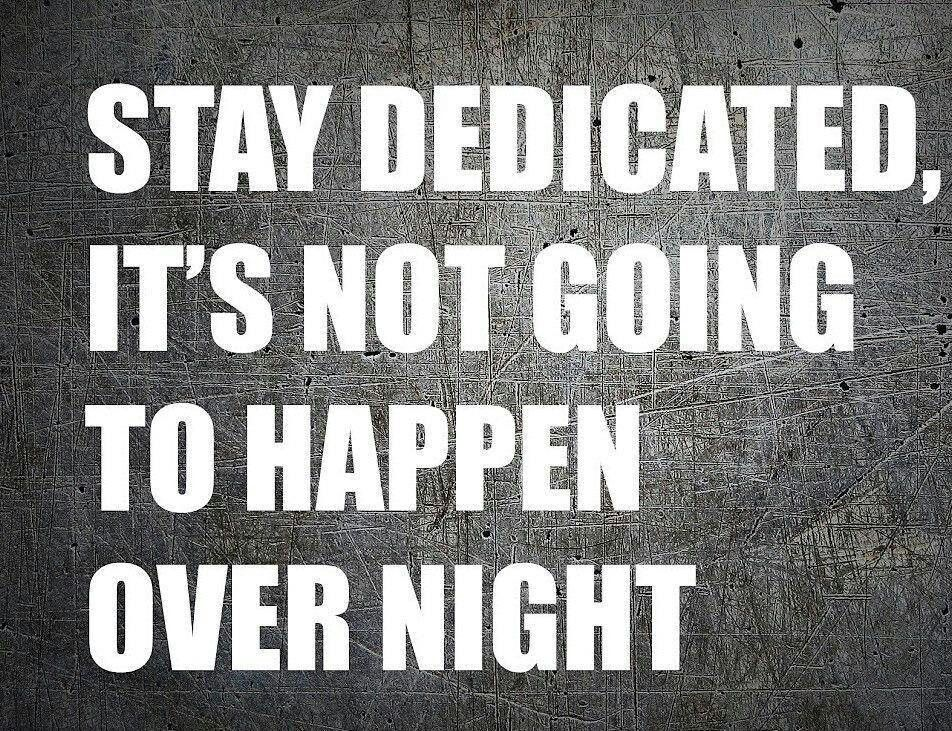Stay Dedicated Its Not Going To Happen Overnight