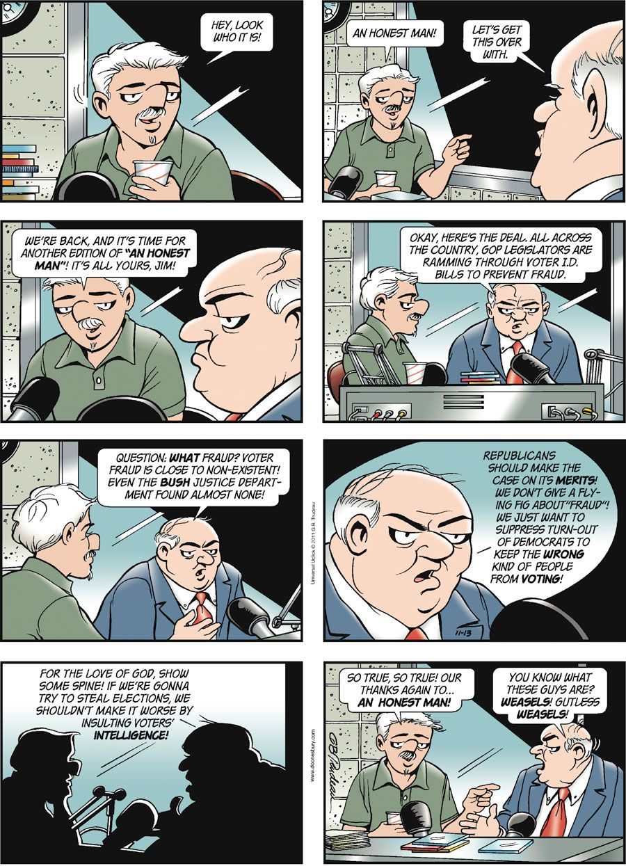 Comic Strips by Garry Trudeau November 13, 2011 (With