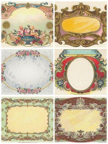 tiquettes et cartes anciennes a imprimer cartes vintage ancien et p ques. Black Bedroom Furniture Sets. Home Design Ideas