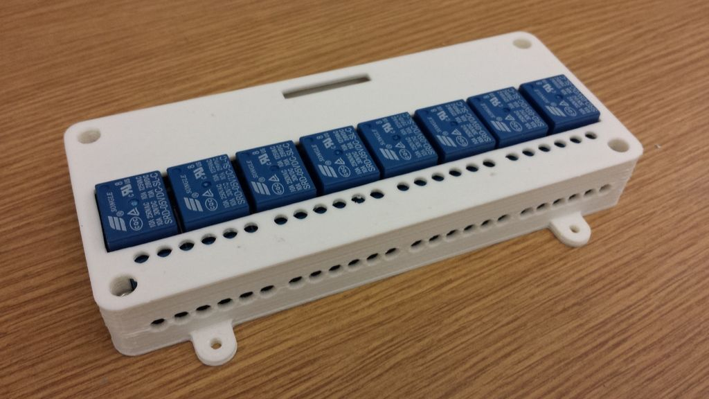 8 Channel Relay Module Case Sainsmart Kootek By Clough42 Electronics Projects 3d Printing Case