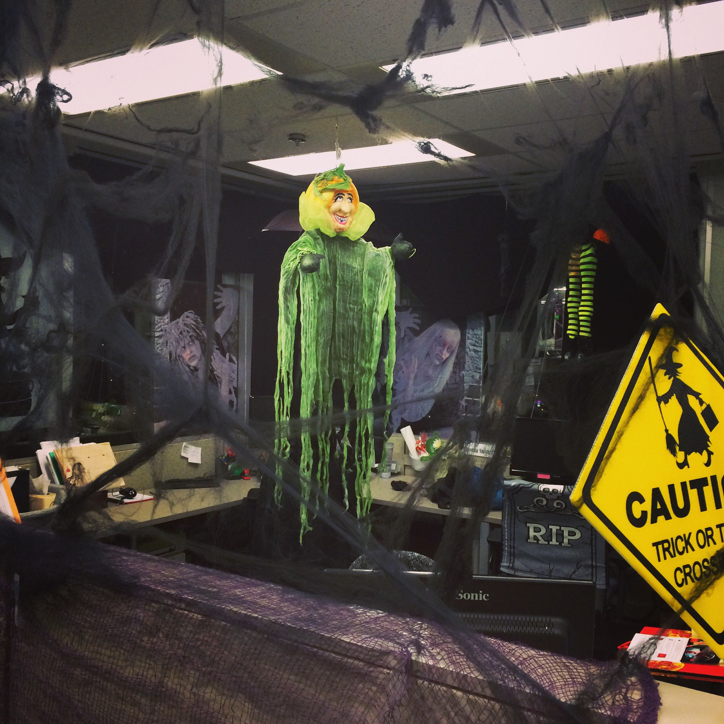 entire office decked. We Love Halloween At Our Office! Here\u0027s Cubicle Area All Decked Out Entire Office