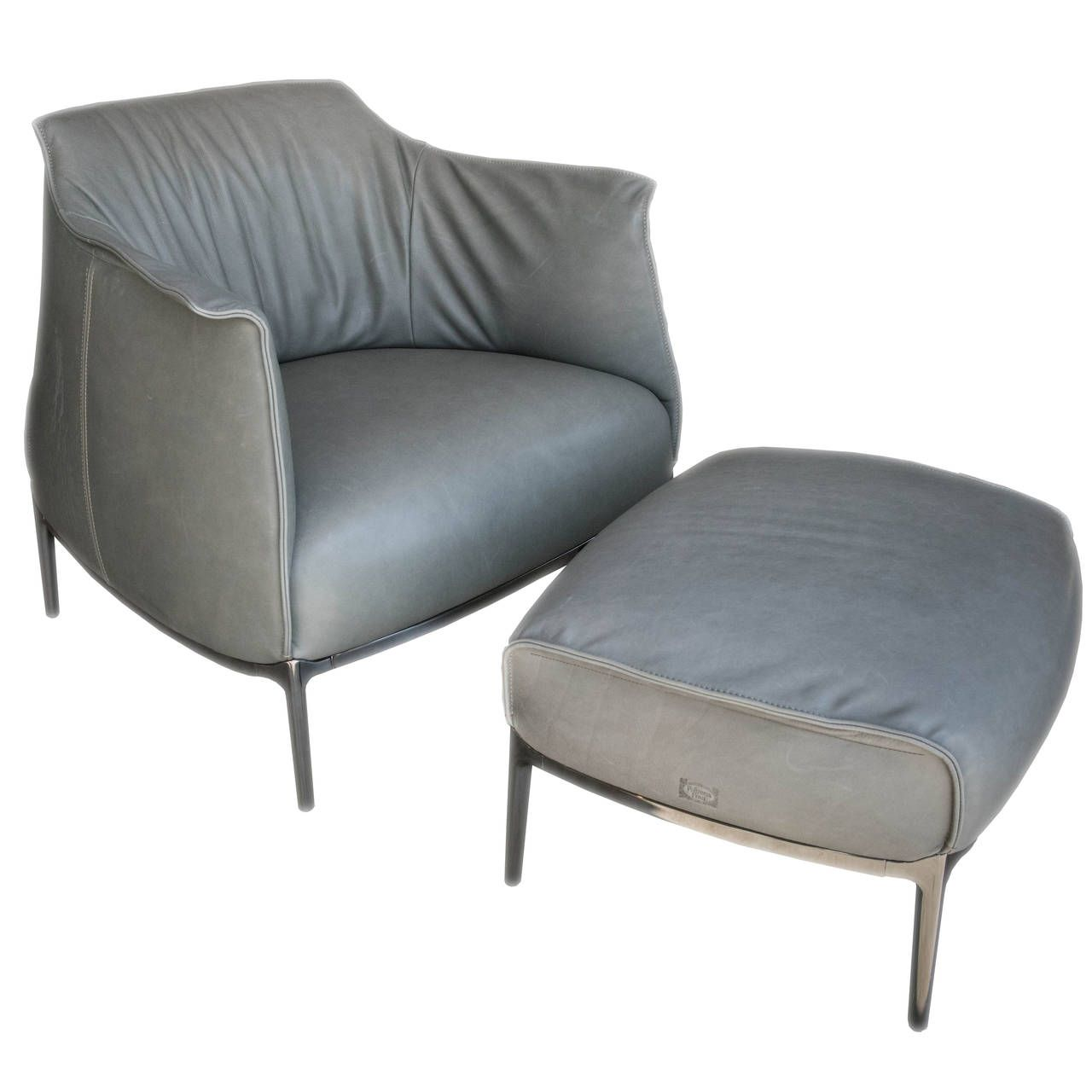 Poltron Frau Archibald Armchair With Ottoman From A Unique