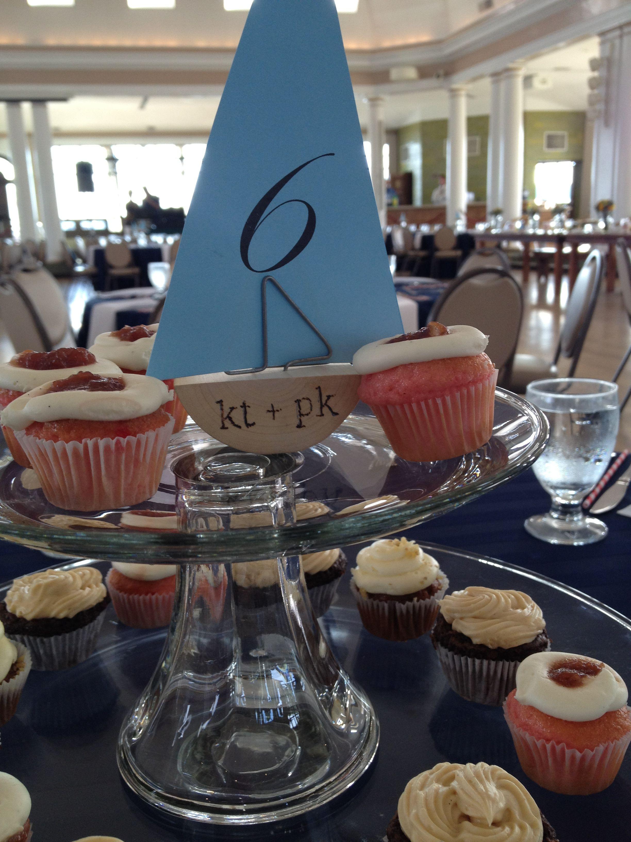 Custom boat table number holders for @Katie Hayden's nautical wedding reception.