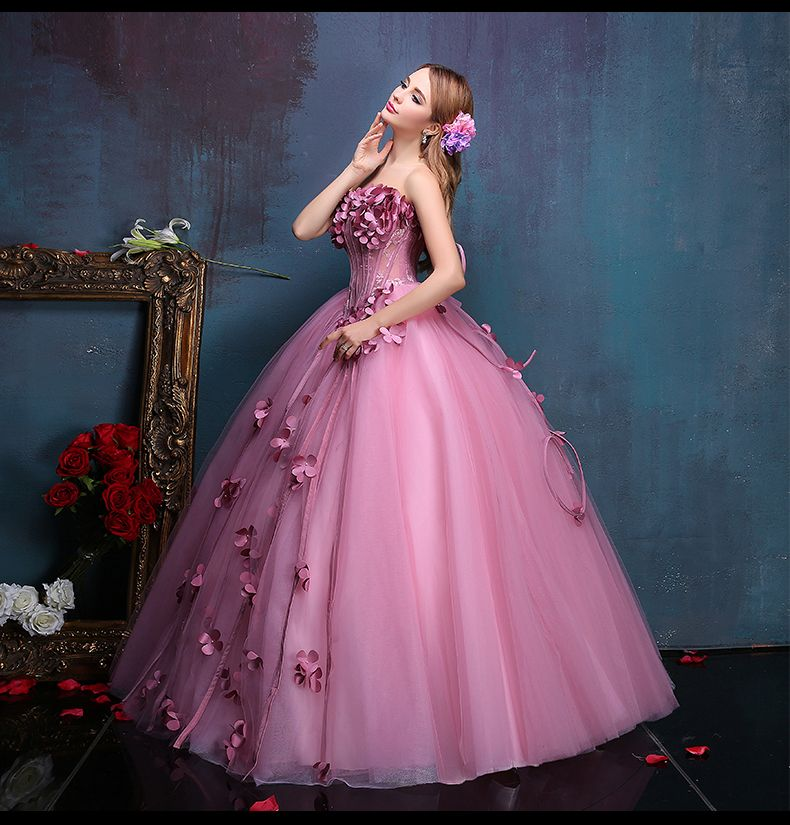 100%real flower fairy beading floral vine ball gown medieval dress princess  Renaissance Gown queen Victoria dress  Belle Ball-in Clothing from Novelty  ... 45904105a87a
