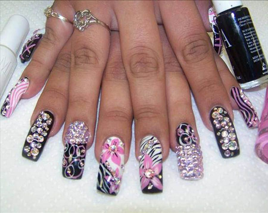Acrylic Nails 3d Acrylic Nail Art Designs 3d Acrylic Nail Art