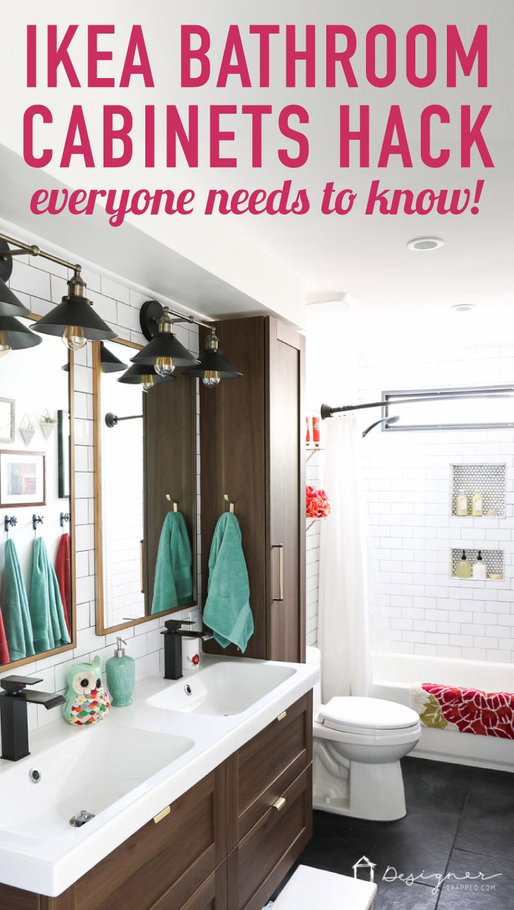 Ikea Cabinet Doors Drawers Hack For Custom Holes Designer Trapped Bathrooms Remodel Chic Bathrooms Stylish Bathroom