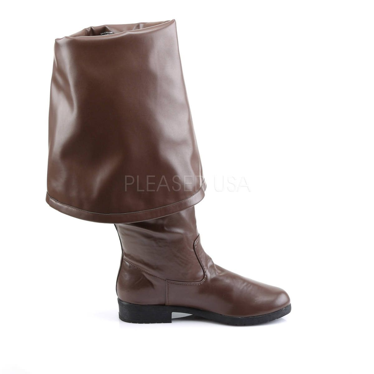 1 1//2 Brown Pirate Boot with 11 Bell Cuff Mens Maverick-2045 8