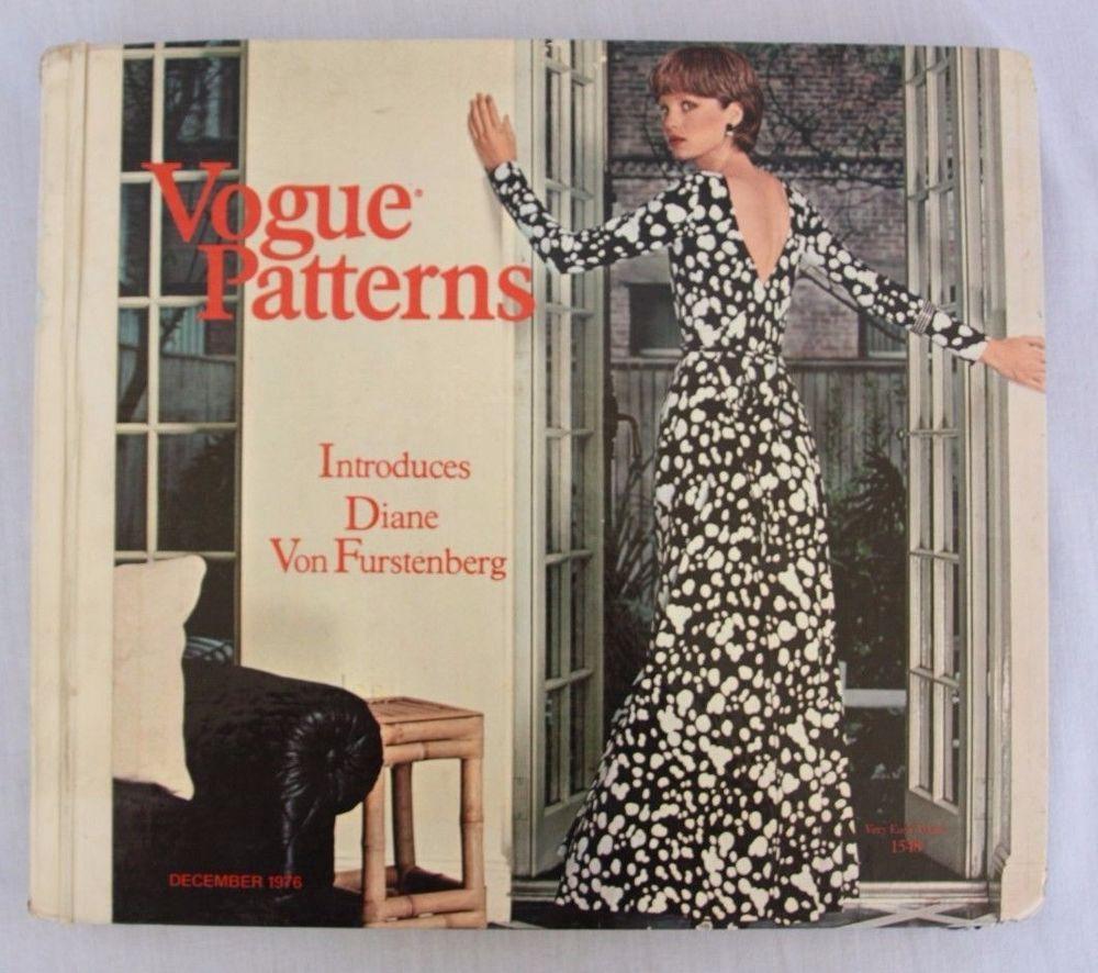 Vtg 1970s Vogue Sewing Pattern Catalog Counter Book Diane Von Furst ...