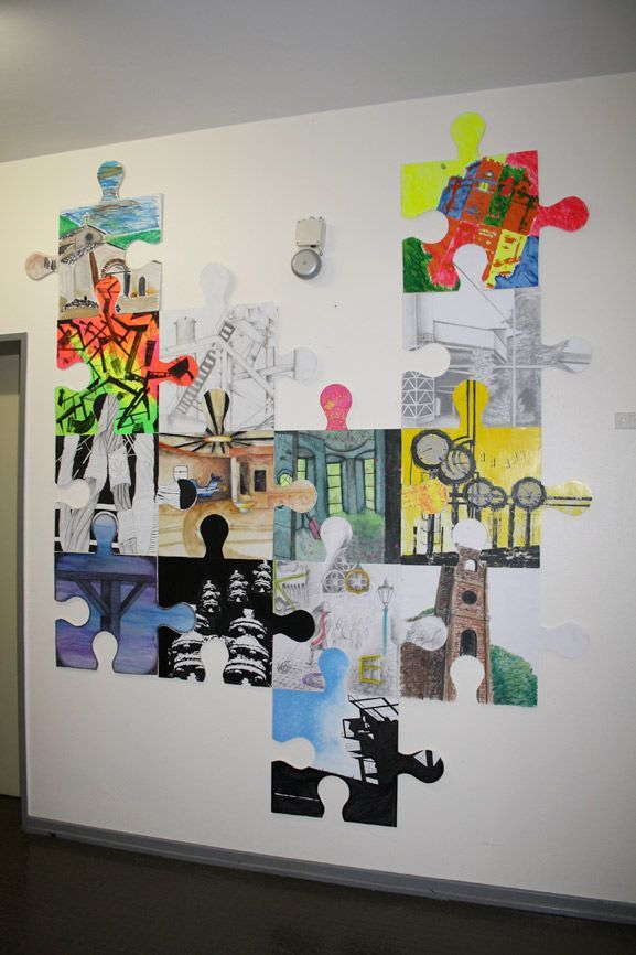 Collaborative Classroom Games ~ Puzzle art installation collaborative project germany