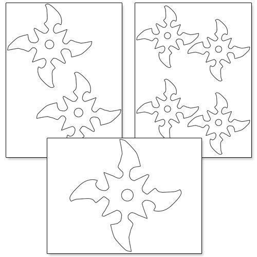 Printable Ninja Star Template … | Pinteres…
