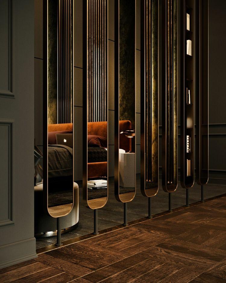 Spiegel Raumteiler spiegel raumteiler design oval luxuriã s interiors design