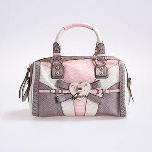 Details about GUESS Logo bow Handbag purse box bag sac NEW
